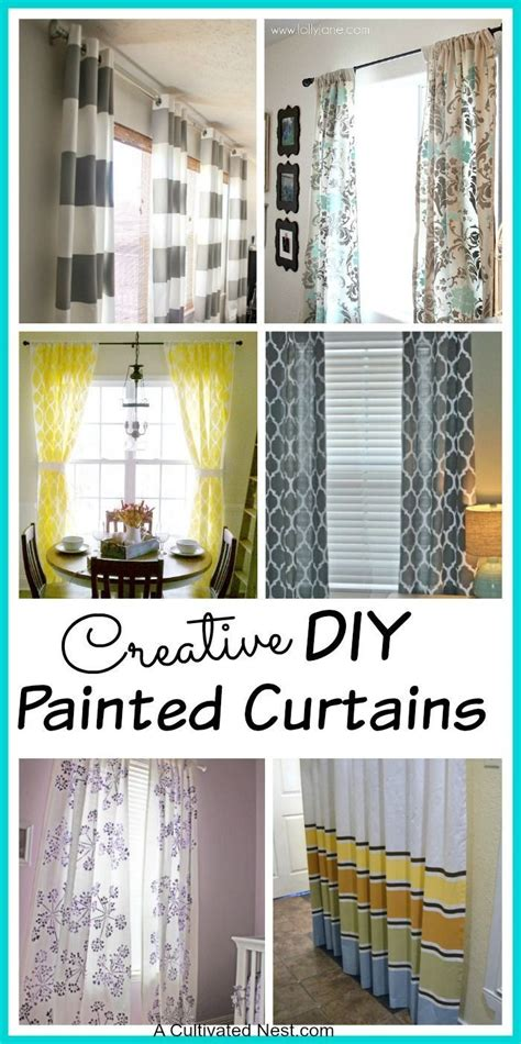 diy painted curtains how to paint window treatments and