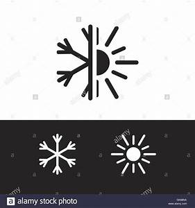 Air Conditioning Icon  Nature Logo  Cold And Warm  Winter