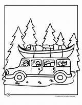 Coloring Camping Camp Trip Road Activities Vacation Sheets Colouring Craft sketch template