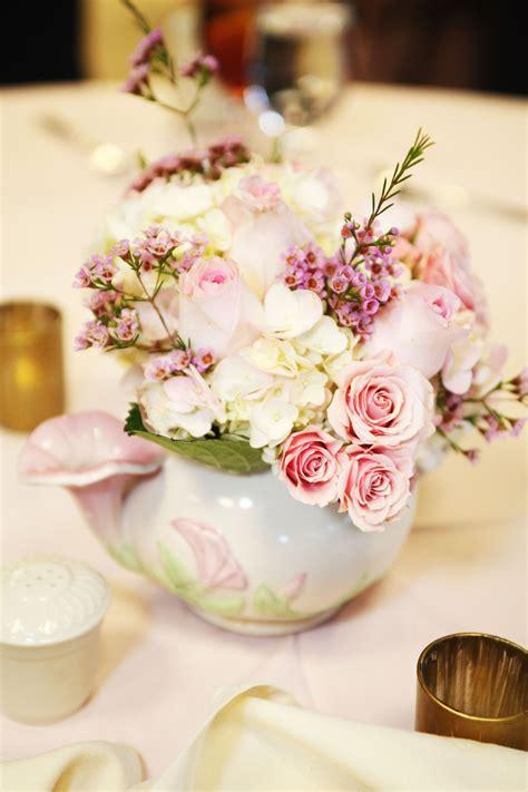 tea pot  tea cup centerpieces