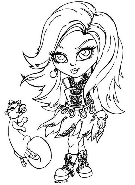 coloring pages  girls monster high top coloring pages