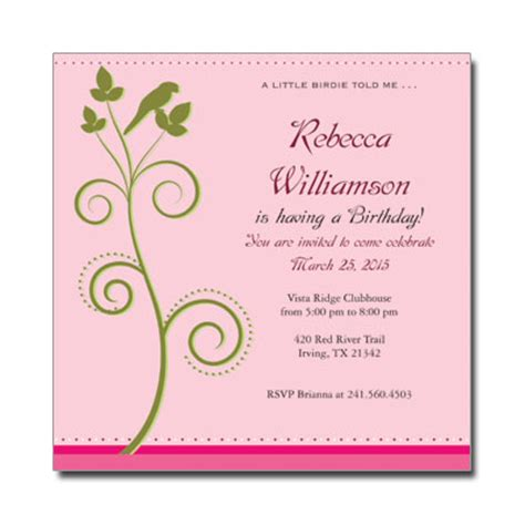 birthday invitation card template for adults any age birthday invitationsadult birthday