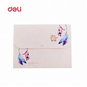 deli cute file folder waterproof expanding wallet candy With cute document folder