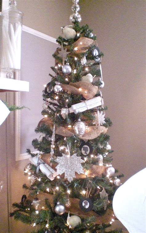 decorating tree with burlap ribbon 30 slim tree decorations ideas decoration