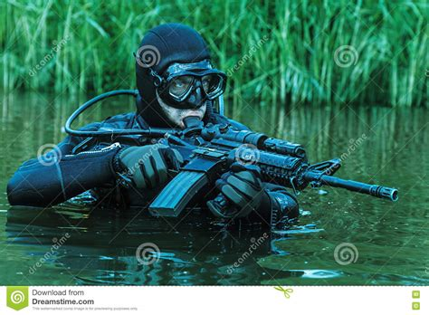 Navy Seal Dive by Navy Seal Frogman Stock Image Image Of Recon Scuba