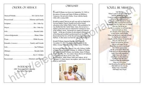 homegoing service program sample   programs
