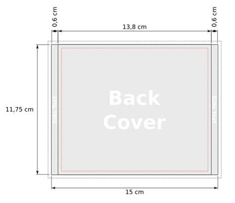 misure copertine copertina per cd modello in pdf con margini e linee di