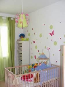 luminaire papillon vert anis et rose fabrique casse noisette With déco chambre bébé pas cher avec envoyer fleurs Á domicile