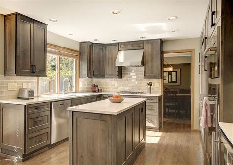 gray stained cabinets ideas  pinterest