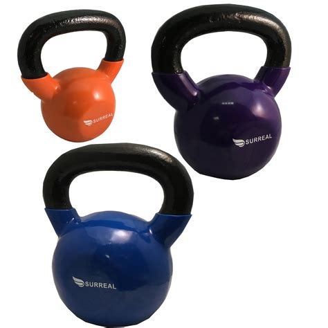 kettlebell fitness gym equipment tone body workout training vinyl strength kettlebells weights yoga sports
