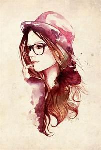 Watercolor face | Watercolor/Gouache | Pinterest