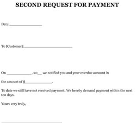 request   payment letter sample small business