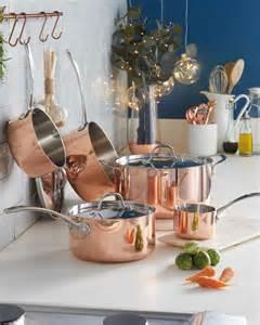 aldi  copper cookware give  kitchen designer style   price tag real homes