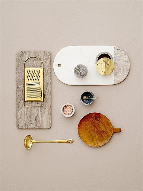 marble gold  teak kitchen essentials design