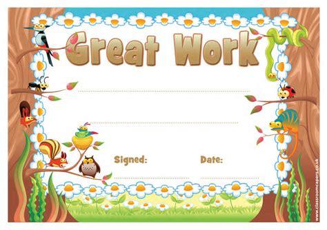 school certificates great work  certificates  kids