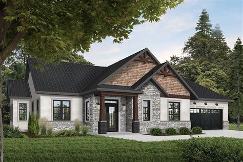 rugged  rustic  bed ranch home plan dr architectural designs house plans