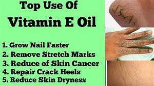Vitamin e tablets for skin