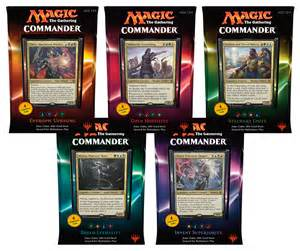 2016 mtg commander decks set of 5 magic products 187 commander box sets collector s cache