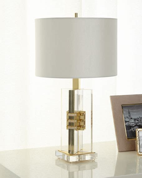 john richard collection brass  acrylic table lamp