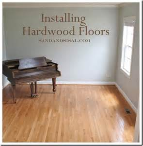 installing hardwood floors sand and sisal
