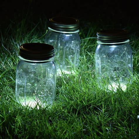 jar solar lights 3 pack jar solar lights silver lids warm soft