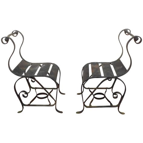 vintage wrought iron patio furniture possibly mid century modern wrought iron chairs for sale at 1stdibs