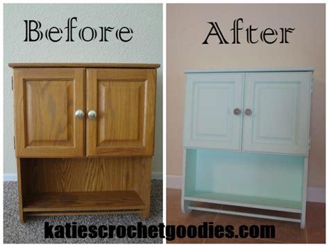 Painting Laminate Furniture Diy  Katie's Crochet Goodies