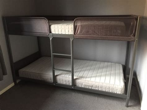 bunk bed with desk and futon ikea ikea tuffing bunk bed in east end glasgow gumtree