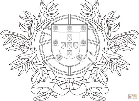 Coat Of Arms Of Portugal Coloring Page