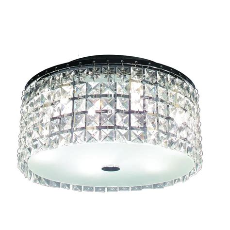 Bathroom Ceiling Light Fixtures Chrome by This Glam Brushed Chrome Ceiling Light Features Decorative