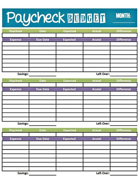budget worksheet printable get paid weekly and gets paid bi weekly so there s several