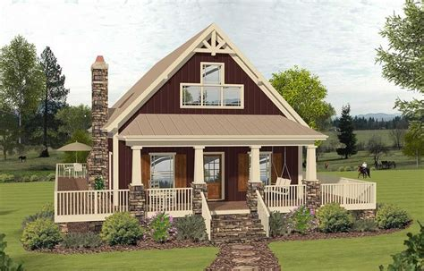 Plan 20135GA: 2 Story Cottage with 2 Story Great Room