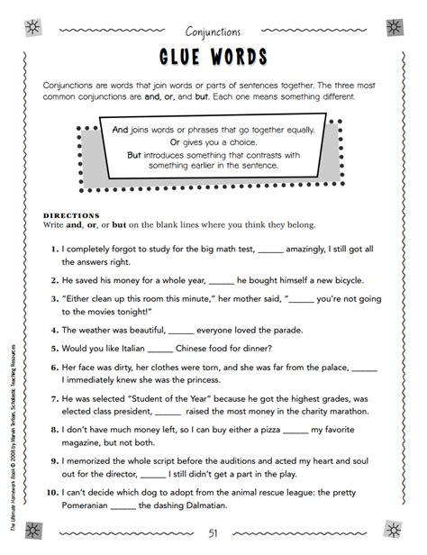 conjunctions glue words parents raise a reader blog
