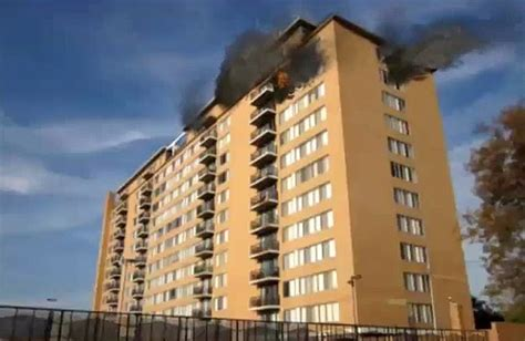 residential high rise fire fire