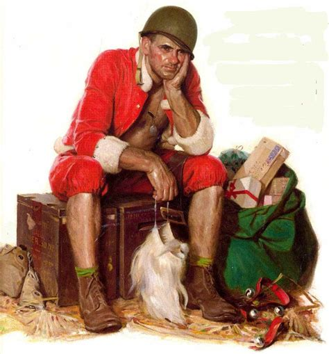 A 1944 Painting Is Of A Wwii Marine Taking A Break From