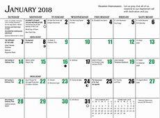 Church Liturgical Colors Calendar 2018 Printable