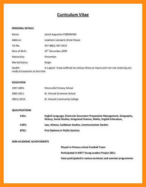 Cv Simple by 9 Simple Curriculum Vitae Losgringosdr