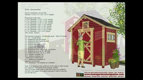 how to make house plans oh100 out house plans construction out house design how to build a out house youtube