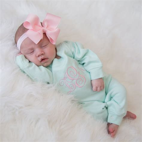 mint  pink newborn baby girl coming home outfit