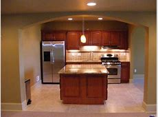 Impressive Basement Kitchens Ideas Showing Wooden Kitchen