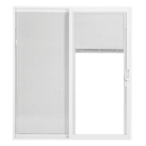 white doors lowes shop thermastar by pella 25 series 70 75 in blinds between