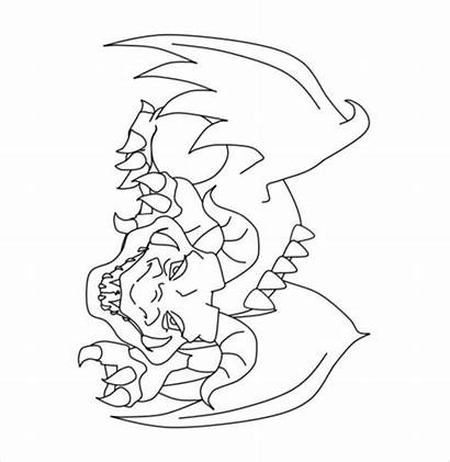 Dragon Drawing Mean Coloring Template Pages Fantasy