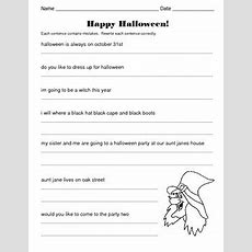 Halloween Sentences  Correct And Rewrite The Sentences By Kelly Connors
