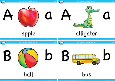 Alphabet Vocabulary Flashcards