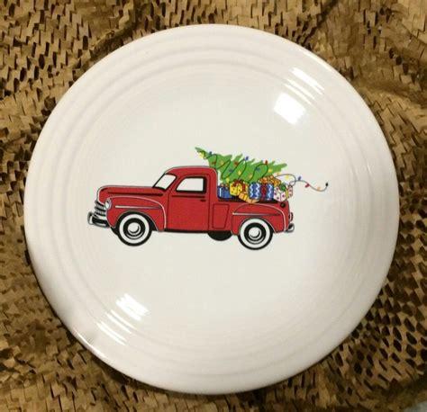 fiesta belk christmas truck luncheon plate features