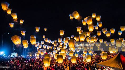 sky lantern festival taiwan stock photo getty images