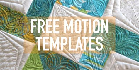 Free Motion Quilting Templates Free Motion Templates Free Motion Quilting Templates