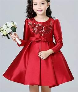Robe De Demoiselle D Honneur Fille : fille rouge paillettes robe enfants de bal de mariage de ~ Mglfilm.com Idées de Décoration
