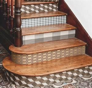 Deco Marche Escalier : papier peint pour les contre marches d 39 un escalier architettura pinterest stairways and ~ Teatrodelosmanantiales.com Idées de Décoration