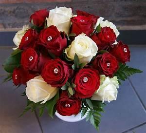 Bouquet Fleurs Blanches : bouquet de mari e avec roses rouges et roses blanches ~ Premium-room.com Idées de Décoration